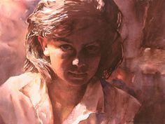 Young girl portrait - watercolor