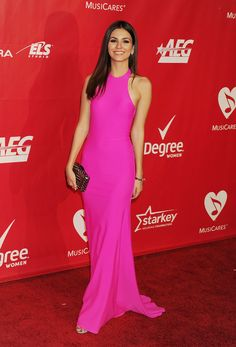 Victoria Justice stepped out for the 2014 MusiCares Person of the Year event in LA.