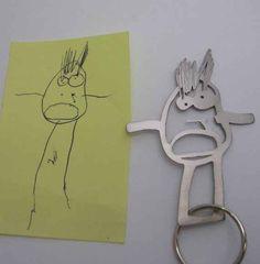 Convierte uno de los dibujos de tu hijo en un llavero: