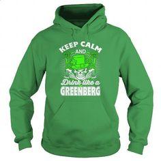 GREENBERG - Patrick's Day 2016 - #boyfriend hoodie #neck sweater. CHECK PRICE => https://www.sunfrog.com/Names/GREENBERG--Patricks-Day-2016-Green-Hoodie.html?68278