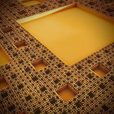 #voxelart #magicavoxel #render #3d #abstract #random #speedbuild #landscape #mountains #fractal #sierpinski #carpet