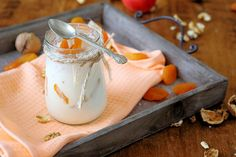 Orange Coconut Yogurt is so delicious! This superfoods recipe is a great nutrient-dense option for people who don't eat dairy. You have to try it! #coconut #recipe #coconut