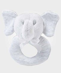Ralph Lauren Striped Elephant Rattle Quartz Heather  QUARTZ HEATHER MULTI