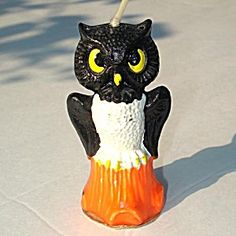 Gurley 1950s Halloween Owl Figural Candle