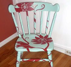 Hand Painted Rocking Chair. http://www.facebook.com/unisouthdenmark