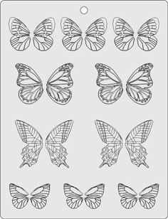 butterfly Template/stencil for chocolate decorations