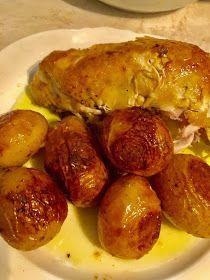 ΜΑΓΕΙΡΙΚΗ ΚΑΙ ΣΥΝΤΑΓΕΣ 2: Κοτόπουλο στον φούρνο με πατάτες !!! Baked Potato, Sausage, Potatoes, Meat, Baking, Ethnic Recipes, Food, Bread Making, Patisserie