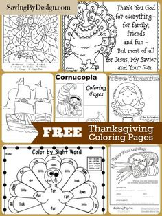 Keep the kiddos entertained and in the holiday spirit with theses 10 FREE Thanksgiving Coloring Pages. Free Thanksgiving Coloring Pages, Thanksgiving Crafts For Kids, Thanksgiving Parties, Thanksgiving Activities, Free Coloring Pages, Happy Thanksgiving, Fall Crafts, Kindergarten Thanksgiving, Vbs Crafts