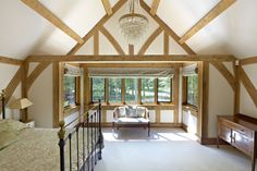 A stunning oak framed country house in Hertfordshire House Design, House, Home, Modern Farmhouse Interiors, Oak Frame House, Building A House, Oak Framed Buildings, House Rooms, Barn Bedrooms