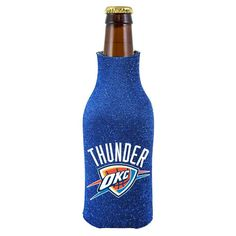 Oklahoma City Thunder Glitter Zippered Bottle Coolie