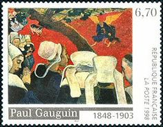 France 1998. Paul Gauguin (1848-1903). Jacob's Fight with the Angel.