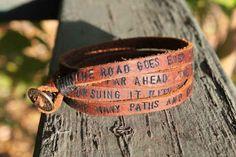 LOTR leather wrist band on etsy