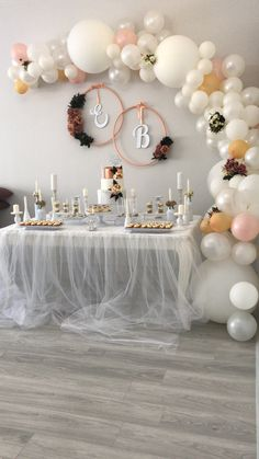38 Super Ideas for wedding decoracion modern bridal shower - Wedding shower decorations - Wedding Shower Decorations, Birthday Party Decorations, Elegant Party Decorations, Bridal Decorations, Engagement Party Decorations, Ceremony Decorations, Decoration Evenementielle, Elegant Bridal Shower, Balloon Garland