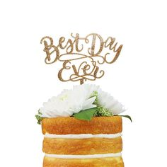 Best Day Ever Cake Topper by AlexisMattoxDesign on Etsy https://www.etsy.com/listing/246691769/best-day-ever-cake-topper