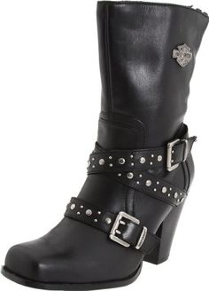Harley-Davidson Women's Obsession Motorcycle Boot Harley-Davidson, http://www.amazon.com/dp/B0057D498O/ref=cm_sw_r_pi_dp_FXdZqb03Z068Z    These boots are made for ridin'...on a jacked handle bar Harley with banana seat. Word.