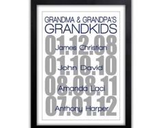 Grandparents Day - Gift For Grandparents - Personalized Family Gift - Family Tree - Gifts From Grandkids - Gift For Parents Father Daughter Quotes, Father Quotes, Sister Quotes, Family Quotes, Mother's Day For Grandma, Grandma And Grandpa, Grandparents Christmas Gifts, Grandparent Gifts, First Mothers Day Gifts