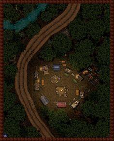 Caravan Campsite by Bogie-DJ.deviantart.com on @DeviantArt
