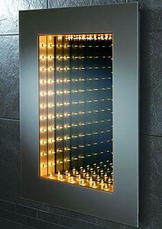 Infinity Mirror Design With Light ... DIY https://www.youtube.com/watch?v=b2bvWArORSc