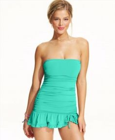 248e1f702a Coco Rave Ruched Bandeau One-Piece Swimdress - Swimwear - Women - Macy s