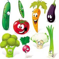 cartoon vegetables expression 01 vector