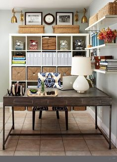 Home Office With Loads Of Storage Homeoffices Homeofficedesigns Homechanneltv
