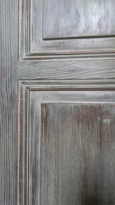Anta di armadio dipinta con la tecnica del ceruse'