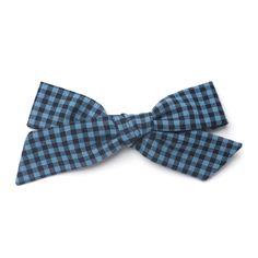 """""""Blue Lumberjack"""" Oversized Schoolgirl Bow by Free Babes Handmade. Made with love in the USA. The perfect bow for your little girls holiday style and beyond."""