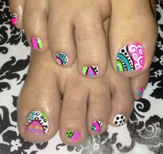 Cool nail art design toenail art nail polish