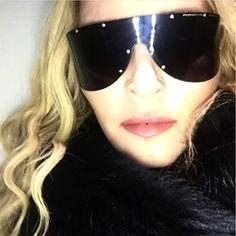 Madonna wears Porsche P8479#Otticanet #Otticanet.com #Sunglasses #Eyewear # Black #Vip #Celebrities