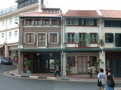 Restored Shophouses on Club Street, Singapore.