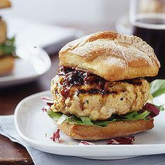 Make burger night exciting with Chicken Burgers with Barbecue Onion Sauce