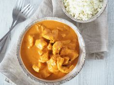 This butter chicken is always a winner in our house. It's tasty, simple and a real family favourite! If you like it a bit spicier just add extra chilli, but we … Snow Recipe, Homemade Naan Bread, Food Website, Butter Chicken, Clean Recipes, Main Meals, Clean Eating, Tasty, Real Family