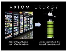 Axiom Exergy Slashes Supermarkets' Energy Bills by Converting Refrigeration Systems into Low-Cost... -- ...