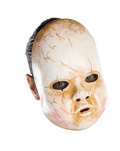 Scary Halloween Masks. reminds me of the creepy pll baby mask!