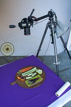 Overhead Food Photography | Food Photography Blog. Tripod with side arm attachment. Amazing