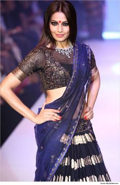 High neck saree blouse designs always remind about elegant ladies. There is a charming sense of style for saree blouse designs that spells class.