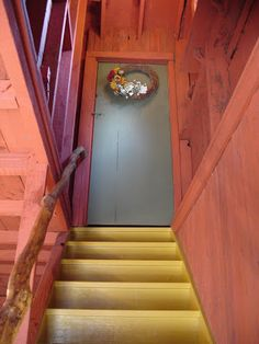 Carriage House staircase to upper level