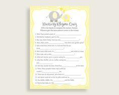 Nursery Rhyme Quiz Baby Shower Nursery Rhyme Quiz Yellow Baby Shower  Nursery Rhyme Quiz Baby Shower