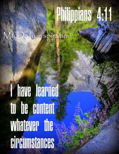 My Daily Inspiration Bible Verses: I have learned to be content whatever the circumst...