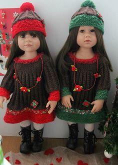 Tuto robe et bonnet pour poupée Hannah Gotz
