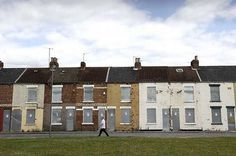 Boarded up terrace streets of Gresham Middlesbrough, Going Home, Britain, Terrace, Pilot, Houses, Mansions, Tv, House Styles