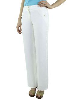 Pantalón Geranium #moda #lino #SS2015 www.abito.com.mx
