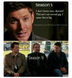 So I am in spn fandom because of superwholock thing. That basically means that i saw a lot of pics of spn before I watched the show. So I comphared season 1 to now. And all I wanna say is :ThEY wERe gOD daMn CuTIe baBIeS! Castiel, Sammy Supernatural, Supernatural Quotes, Sherlock Quotes, Sherlock John, Sherlock Holmes, Supernatural Tattoo, Supernatural Wallpaper, Watson Sherlock