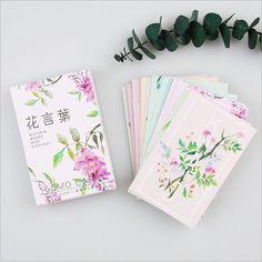 28Pcs/pack Retro Flowers Lush Leaves plants Mini Lomo Card Greeting Card Postcard DIY Letter Envelope Gift Card Message Card