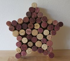 Wine Cork Star Wall Hanging by MyHappilyEverAfter23 on Etsy, $25.00