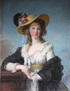 Portret van de Hertogin de Polignac ~ 1782 ~ Olieverf op doek ~ 92,2 x 73,3 cm. ~ Chateau de Versailles, Parijs