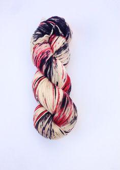 Hand Dyed Yarn Knitting Yarn Superwash Merino by KnitStitchYarn