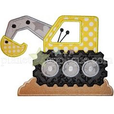 Construction Backhoe applique design