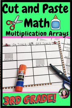 Cut and Paste Math ( Multiplication Arrays to - Real Time - Diet, Exercise, Fitness, Finance You for Healthy articles ideas Division Activities, Multiplication Activities, Math Games, Math Activities, Maths, Math Skills, Math Lessons, Math Clipart, Math Groups
