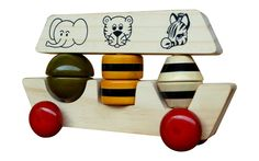 Noah's Ark Wooden Toy (Multi-color) from Lal10.com